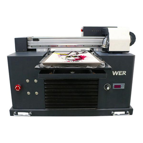 Impresora multicolor de cama de tamaño plano a3 de tamaño dtg