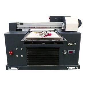 Impresora de camisetas dixitais dixitais de oito cores con prezo barato para a roupa, impresoras tecidas para venda plana