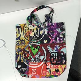 Exemplo de impresión de bolsas non tecidos por unha impresora textil digital A1 WER-EP6090T