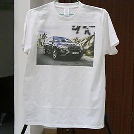 Mostra de camiseta branca por impresora de camiseta A3 WER-E2000T 2